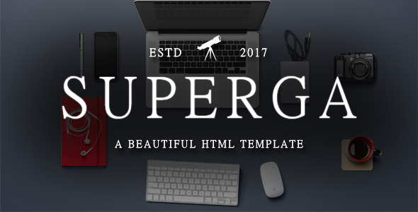 Superga - One-Page Clean Portfolio / Agency Template            TFx
