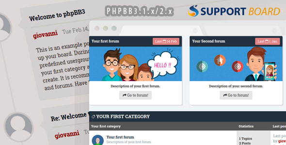 Support Board – phpBB3 Forum Style Responsive            TFx