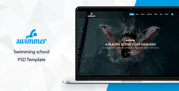 Swimmer - Swimming School PSD Template            TFx