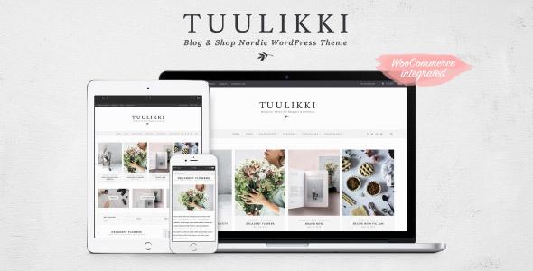 TUULIKKI Nordic Blog & Shop WordPress Theme            TFx