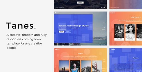 Tanes – Creative Coming Soon Template            TFx