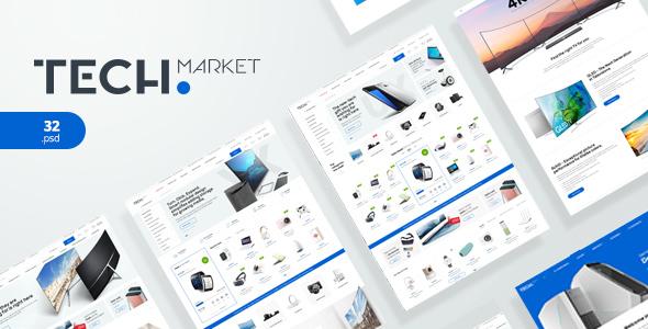 TechMarket - Electronics eCommerce PSD            TFx