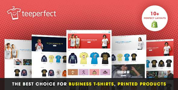 TeePerfect - The best choice for business T-shirts, Printed Products, Drop Shipping...Shopify Theme            TFx