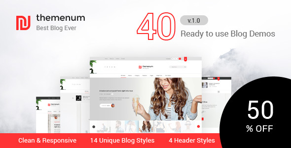 Themenum - Blog HTML Template with 40+ Demos            TFx