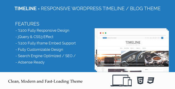 Timeline - Responsive WordPress Timeline / Blog Theme            TFx