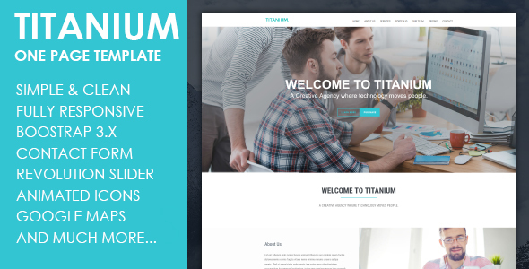 Titanium - Responsive HTML5 Template            TFx