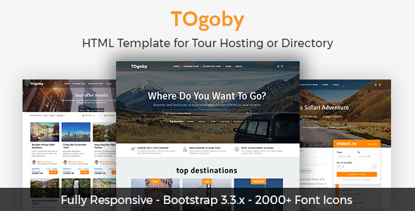 Togoby - Responsive HTML for Tour Hosting            TFx