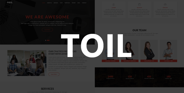 Toil - One Page MultiPurpose Template            TFx