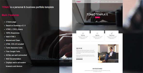 Tona7 -  Business Portfolio Template            TFx