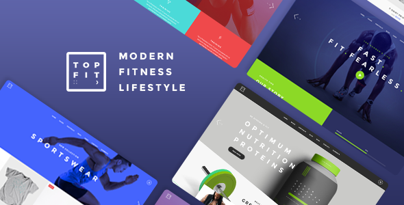 TopFit - A Modern Fitness, Gym, and Lifestyle Theme            TFx