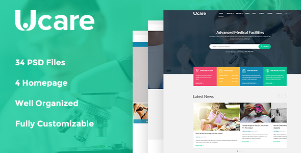 Ucare – Medical & Health PSD Template            TFx