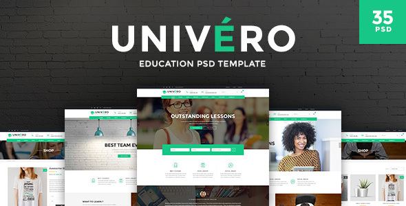 Univero - Education PSD Template            TFx