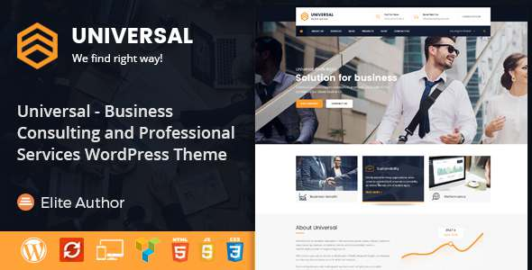 Universal - Business Consulting and Professional Services WordPress Theme            TFx