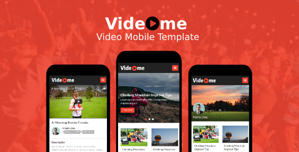 Videome - Video Mobile Template            TFx