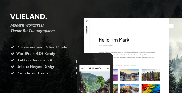 Vlieland - A Photography WordPress Theme            TFx