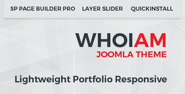 WHOIAM Lightweight Portfolio Responsive Joomla Template            TFx