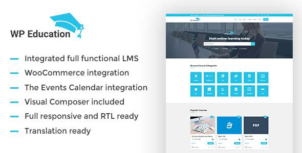 WP Education – The Ultimate WordPress LMS Theme for Educational Sites            TFx