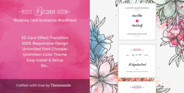 Wedding Card Invitation  WordPress            TFx