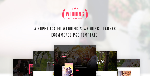 Wedding & Wedding Planner PSD Template            TFx