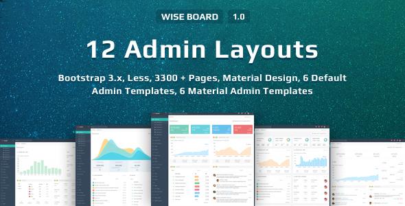 WiseBoard | Responsive Multi-Purpose Admin Template            TFx