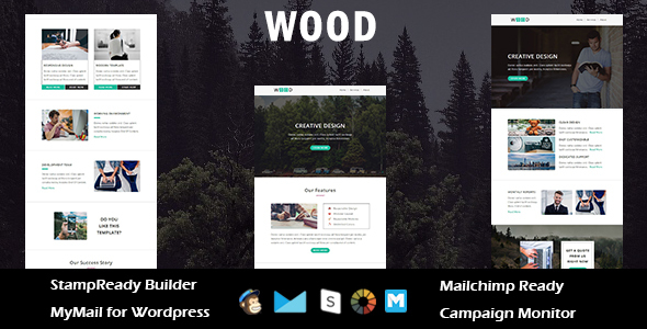Wood – Multipurpose Responsive Email Template with Stampready Builder Access            TFx