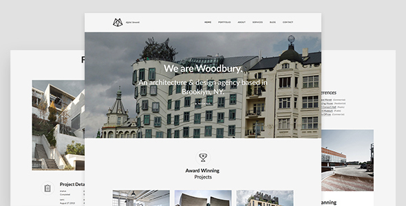 Woodbury Architects - Minimalist Portfolio Joomla Template for Architects            TFx