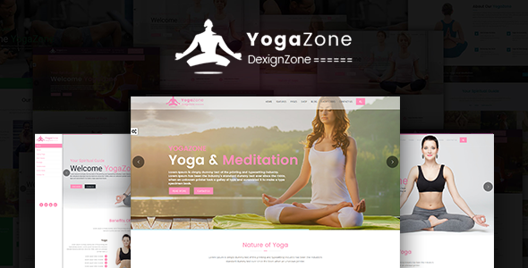 YogaZone: Yoga, Fitness & Meditation Mobile Responsive Bootstrap Html Template            TFx