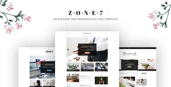 Zone7 - An Elegant And Modern Blog PSD Template            TFx