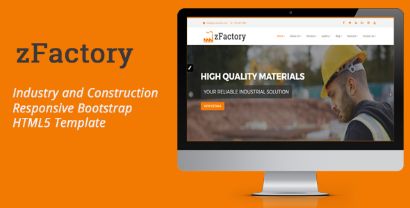 zFactory - Industry and Construction Responsive Bootstrap HTML5 Template            TFx