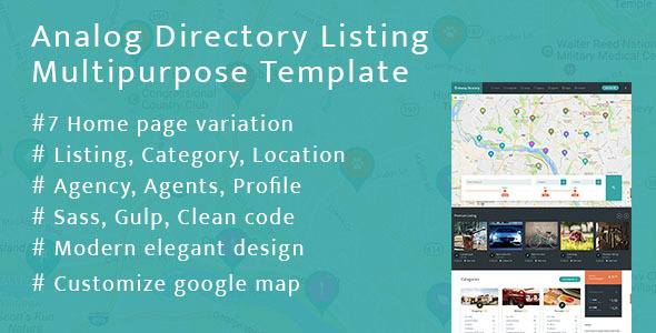 Analog Directory Listing Multipurpose Template            TFx Esmund Hunter