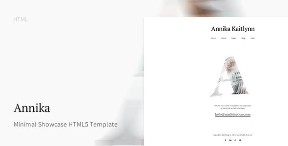 Annika - Minimal Showcase HTML5 Template            TFx