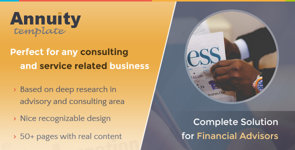 Annuity - Financial Advisory & Consulting Template            TFx