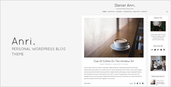 Anri - Personal WordPress Blog Theme            TFx