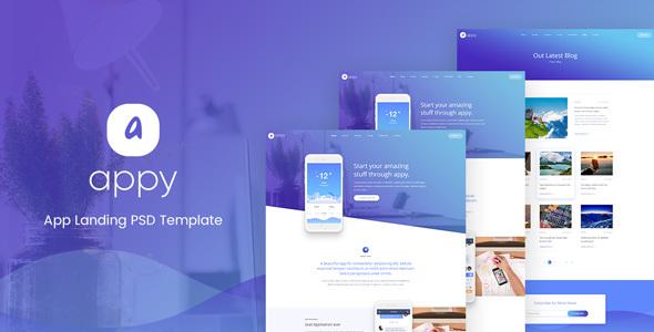 Appy App Landing PSD Template            TFx Bobbie Quanah
