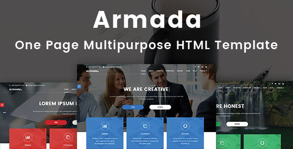 Armada - One Page Multipurpose HTML Template            TFx