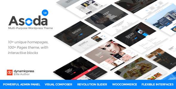 Asoda - A Multipurpose WordPress Theme            TFx