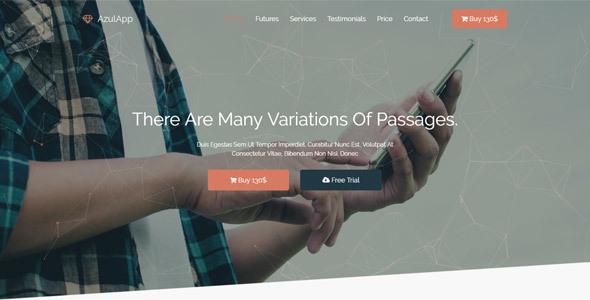 Azulapp - Creative WP Landing Page Theme            TFx