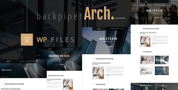 Backpiperarch - Architecture, Interior, Portfolio WordPress Theme            TFx