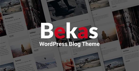 Bekas - Responsive WordPress Blog Theme            TFx Merle Vin