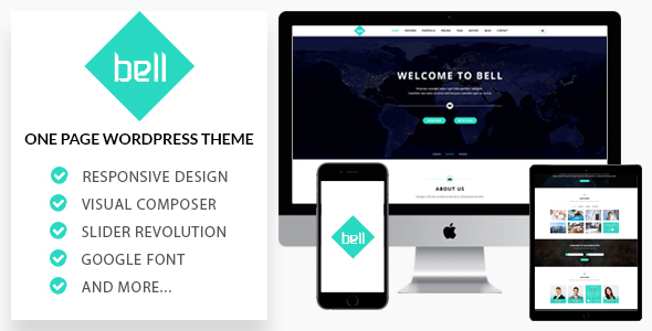 Bell - Responsive OnePage WordPress Theme            TFx