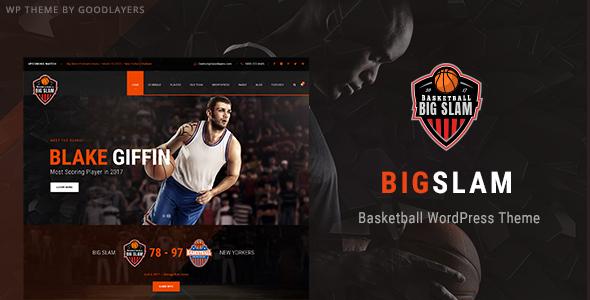 Big Slam - Basketball WordPress Theme            TFx