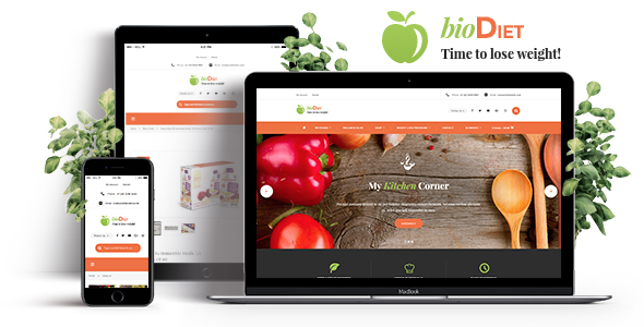 BioDiet - Nutrition & Weight Loss WordPress Theme            TFx