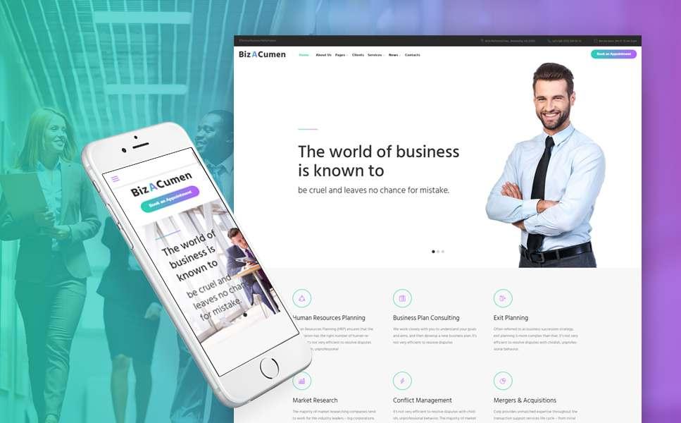 BizACumen – Consulting WordPress Theme TMT Tye Alexis
