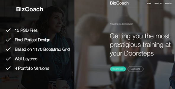 BizCoach - Busines Training, Coaching & Corporate PSD Template            TFx