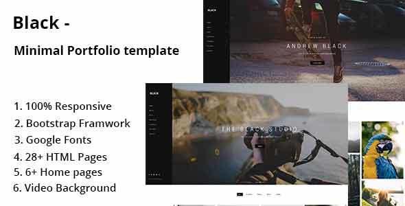 Black – Minimal Portfolio Template            TFx