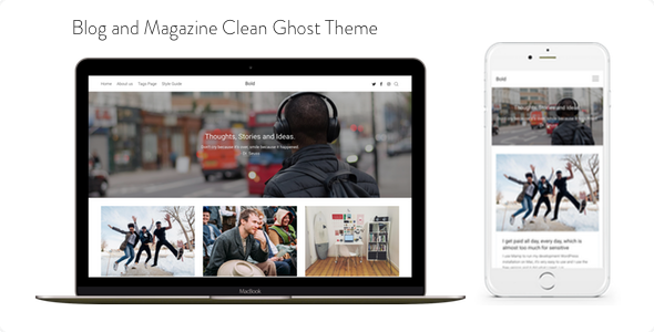 Bold - Blog and Magazine Clean Ghost Theme            TFx