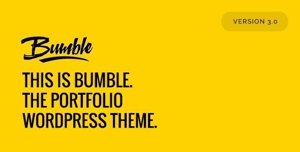 Bumble - The Portfolio WordPress Theme            TFx