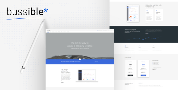 Bussible - Soft Material Corporate, Finance, Startup HTML Template            TFx