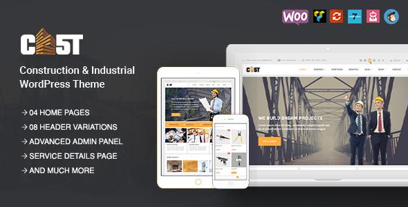 CAST - Construction, Industrial & Building Responsive WordPress Theme            TFx
