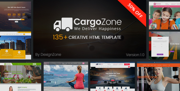 CargoZone - Transport, Cargo, Logistics & Business Multipurpose HTML Template            TFx Esme Putu